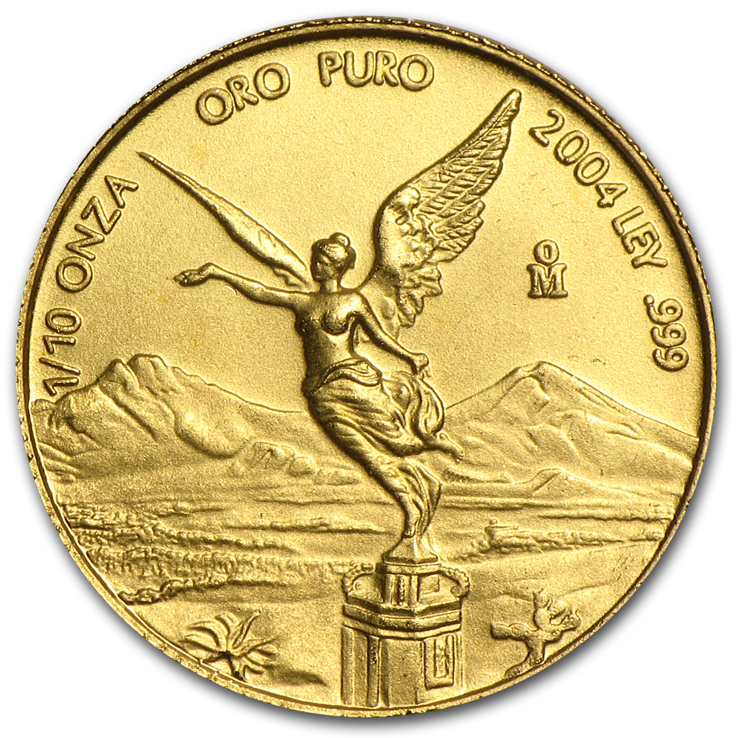2004 Mexico 1/10 oz Gold Libertad BU